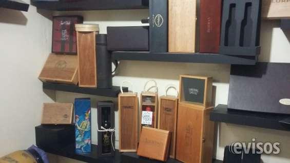 Estuches y cajas de madera para vino
