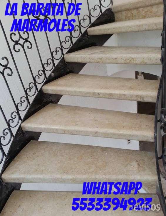 Escaleras de marmol a la medida