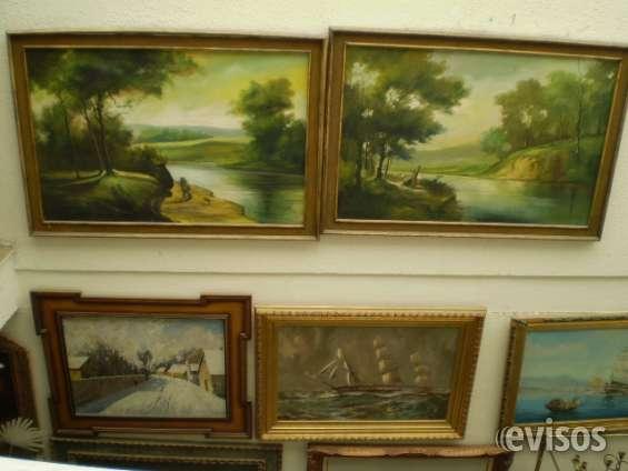 Pinturas al oleo con marco varios tamaños, estilos y precios.
