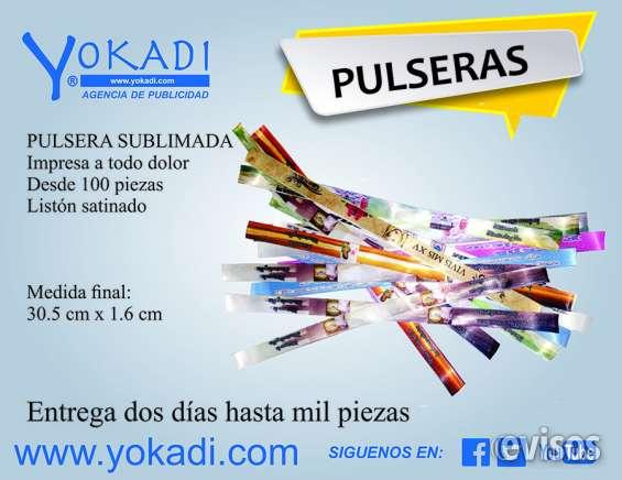 Pulseras impresas en sublimación desde 100 yokadi