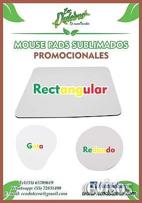 Mouse pads publicitarios, mouse pads impresos, mouse pads sublimados