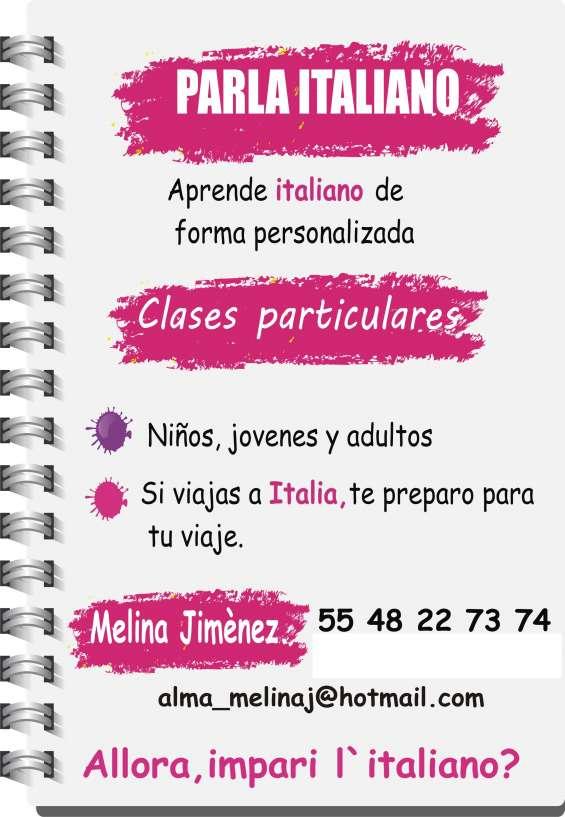 Clases de italiano a domicilio, prof. certificada por universidad de siena, italia