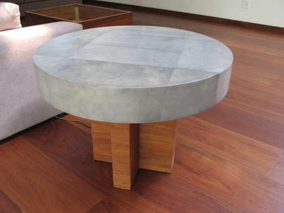 Mesa redonda pergamino 80 cm diametro
