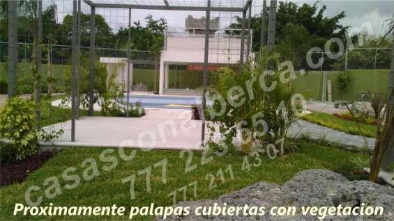 Venta de casas con alberca, elegantes, área verde bien acondicionada sur cuernavaca