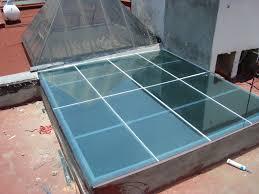 Techo plano en vidrio