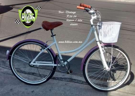 Bici blanca retro r26