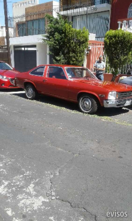 Chevy nova 1976 en venta clasico con placas de auto antiguo