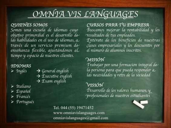 Clases de idiomas para empresas (ing-fra-ita-port-esp)