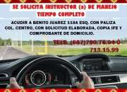 SE SOLICITA INSTRUCTOR DE MANEJO!!