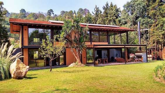 Venta casas ecológicas condominio con alberca a 5 min. de autopista.