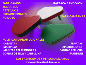 Matracas de plastico promocionales personalizadas