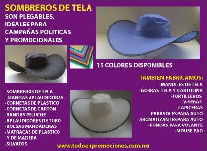 Sombreros personalizados para campañas