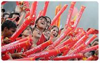 Aplaudidores de tubo personalizados