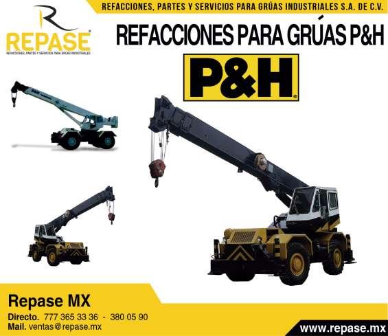 Refacciones para gruas y maquinaria pesada p&h