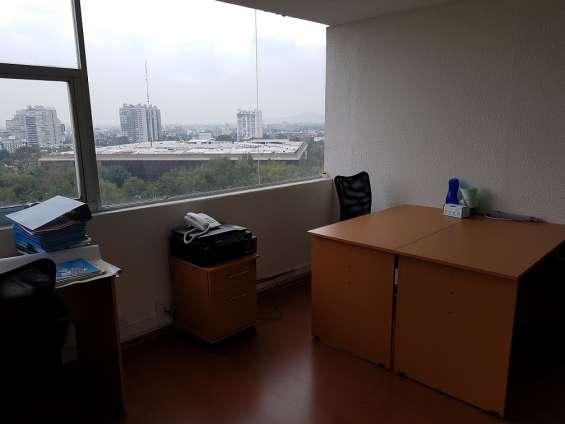Renta de oficina amueblada en col. del valle