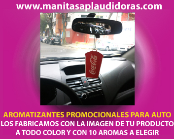 Aromatizantes promocionales para autos