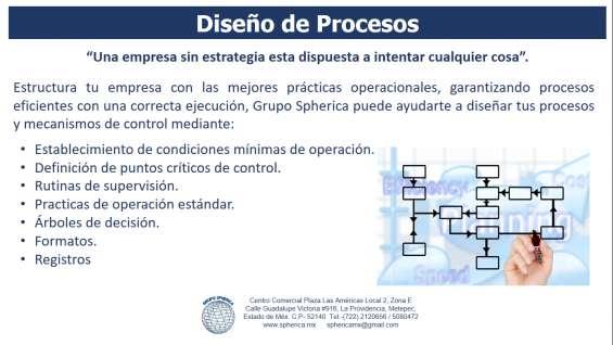 Diseño y control de procesos en metepec