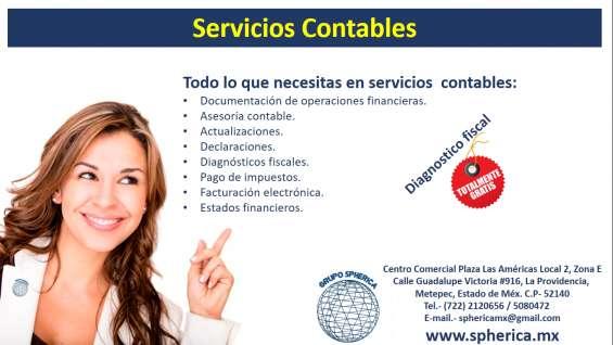 Servicios contables en metepec