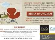 Oficinas en renta con promoción de enero