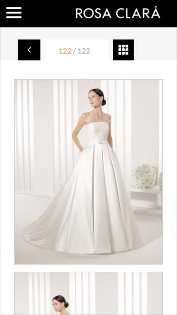 Hermoso vestido de novia diseñado por rosa clara