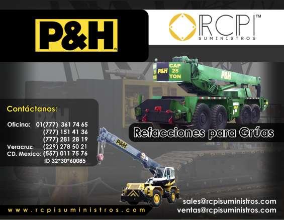 Refacciones para grúas p&h mod. 18, 325, 330, 440