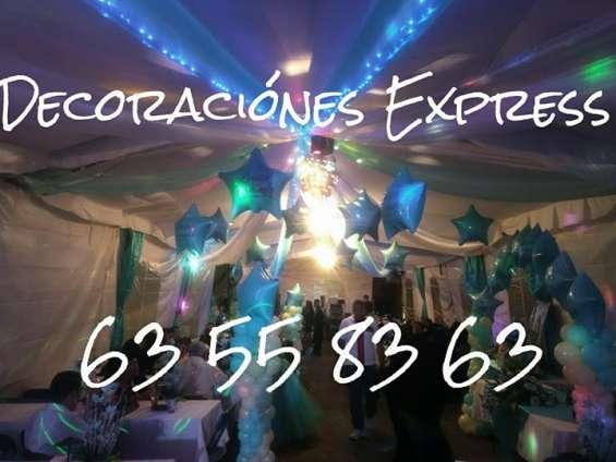 Zanqueros, decoracion con globos, telas para bodas, xv años, bautizos, presentaciones
