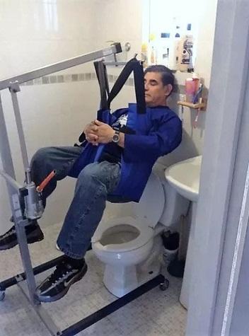 Grúa discapacitados enfermos pacientes