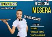 SE SOLICITA MESERA(O)