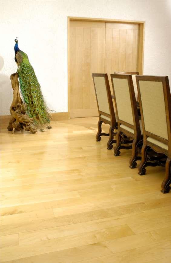 Duela de maple piso madera sólida importado elegante tratado