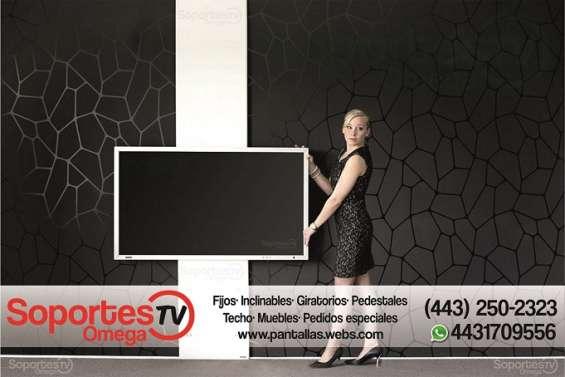 Soportes bases para tv pantallas en morelia instalación