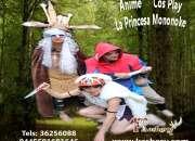 ANIME PRINCESA MONONOKE SHOW KASHERY PARA EVENTOS Y FIESTAS