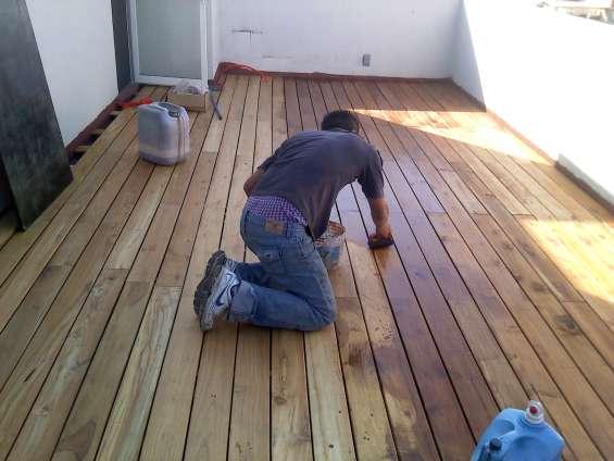 Pisos deck mantenimiento y color onice pisos cdmx
