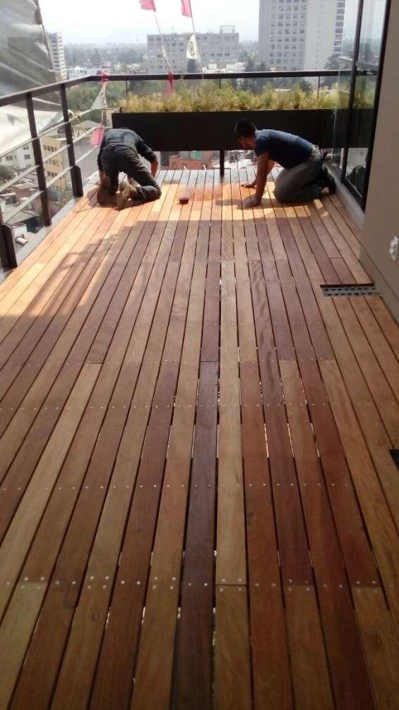 Mantenimiento pisos deck cdmx onice pisos