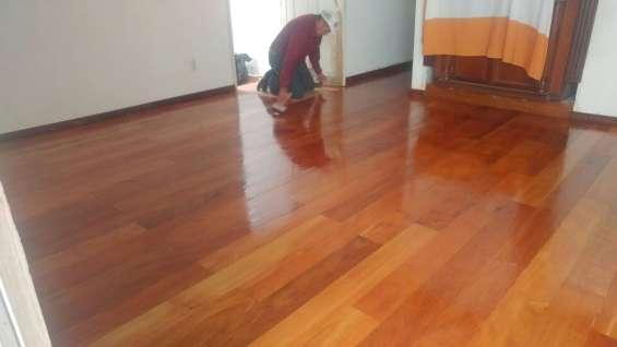 Barnizado en pisos de madera df