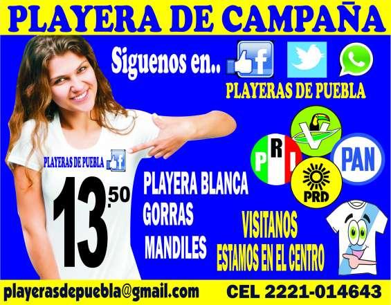 Playera de campaña publicidad serigrafia promocional