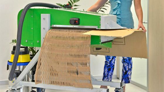Trituradora de cartón usado de desecho