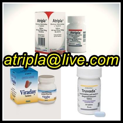 Vendo pastillas contra el sida atripla, truvada, viraday