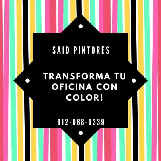 Said pintores profesional painters; pintamos tu oficina