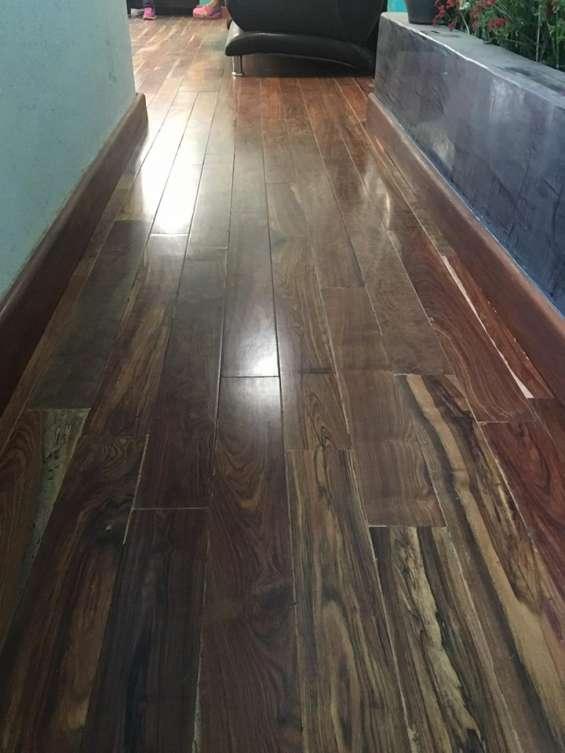 Piso de madera duela de chechen. somos fabricantes y distibuidores