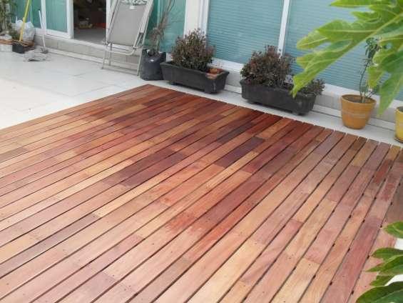 Piso cumaru importado selecto, madera solida