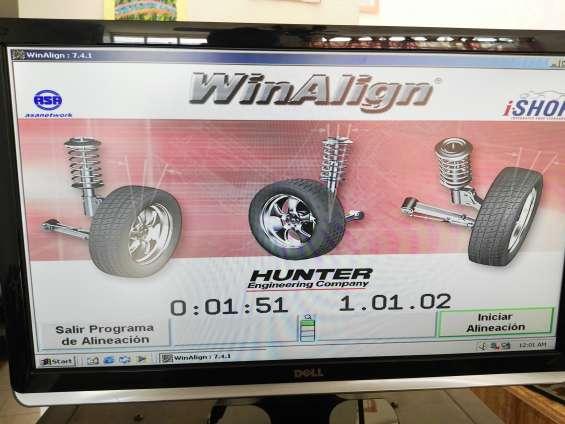 Moderna alineadora hunter 811 con sensores dsp506 (usada)