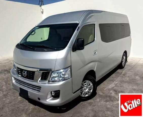 Nissan urvan 15 pasajeros 2014