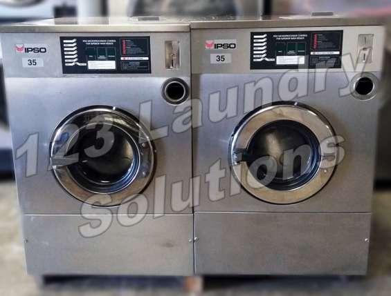 Ipso lavadora de carga frontal 35lbs 1ph 240v 60hz usada