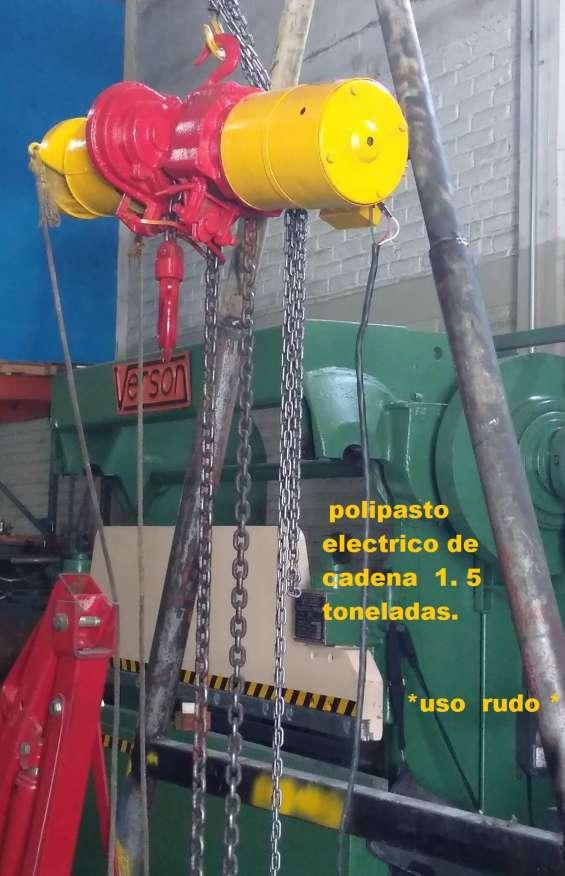 Polipasto electrico de cadena 1,500 kilos