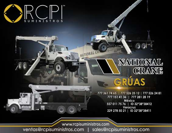 Venta de refacciones para grúas industriales national crane