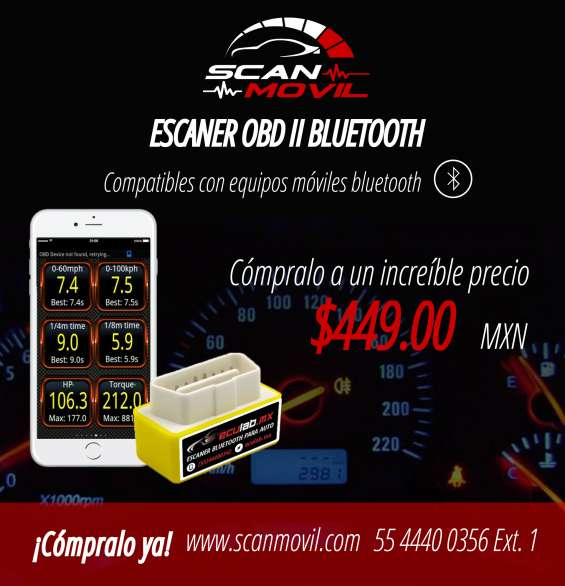 Escaner automotriz bluetooth