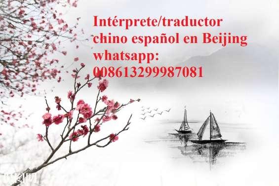 Intérprete chino español en beijing