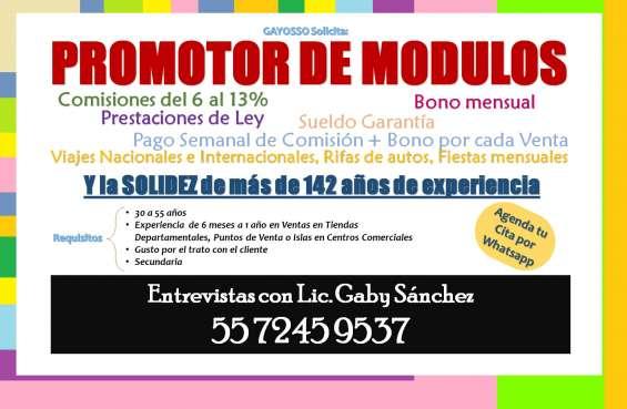 Solicito promotor de venta para modulos en centro comercial **capacitacion pagada**