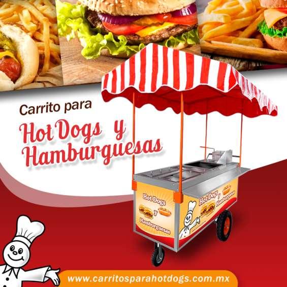 Carrito para hot-dogs y hamburguesas