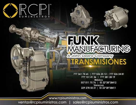 Refacciones y transmisiones funk manufacturing para grúas industriales